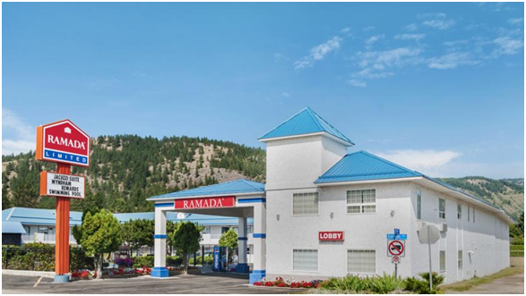 Ramada INN ( 6.5 hours from Vancouver ) – GF