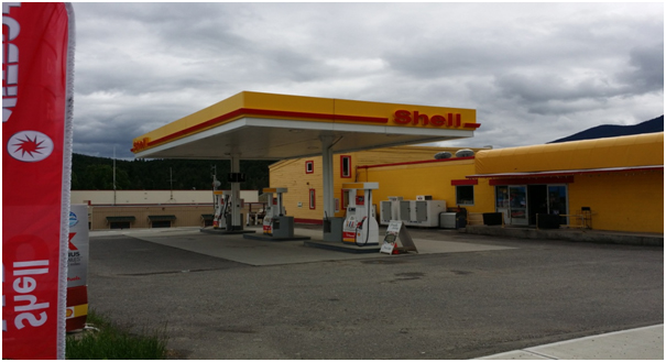 Shell Gas Station (4.5 hours from Vancouver)