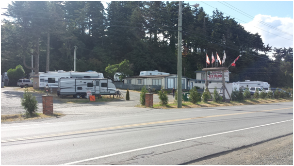 RV Park in Vancouver Island